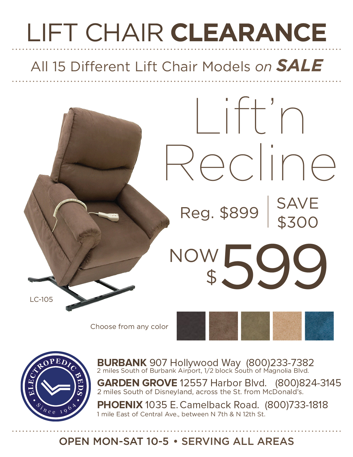 LiftChairs PHOENIX az recliner seat pride lift chair salel price